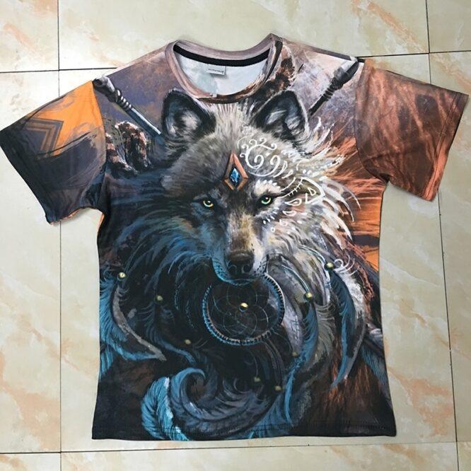 Wolf Warrior 3D T Shirts