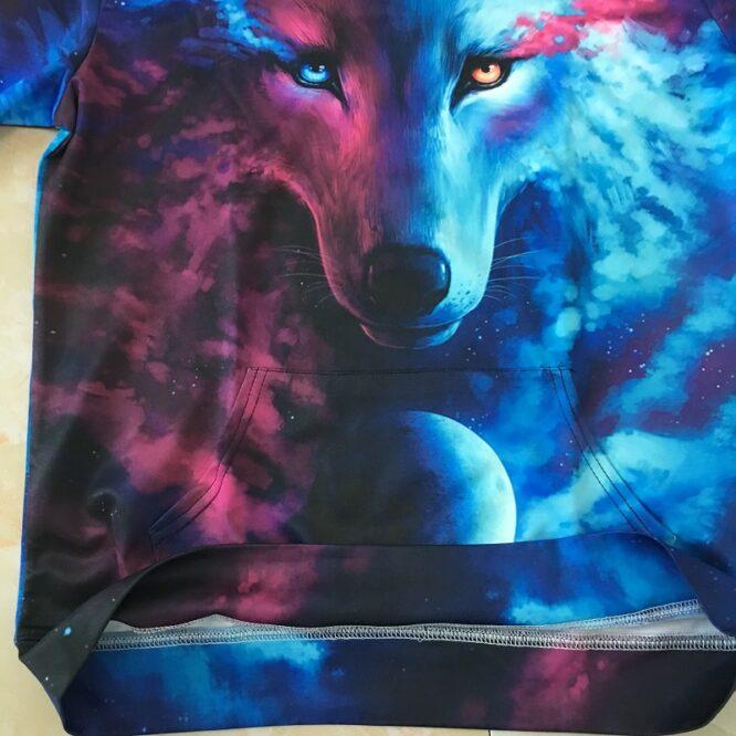 Wolf 3D Hoodies Where Light And Dark Meet