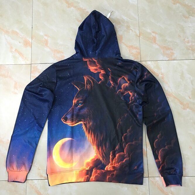 Night Guardian Wolf 3D hoodies