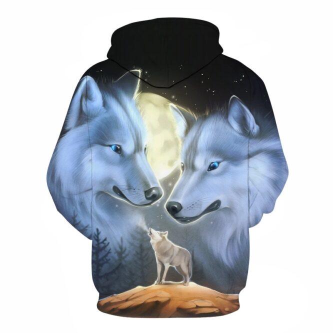 Wolf Printed 3d Hoodies Novelty