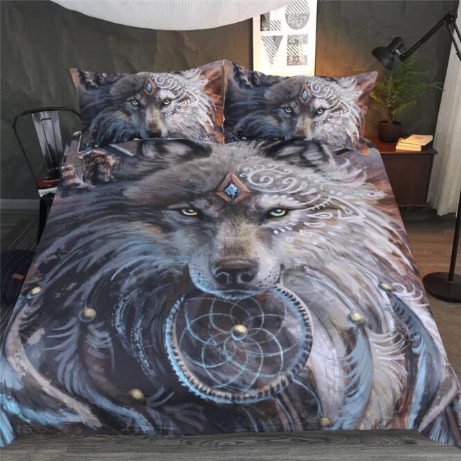 Wolf Warrior 3D Bedding Set