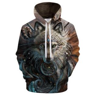 Wolf Hoodies