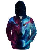 Wolf 3D Hoodies zipper Where Light And Dark Meet