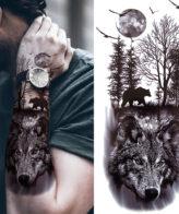 Wolf Tattoo (Temporary Tattoo)