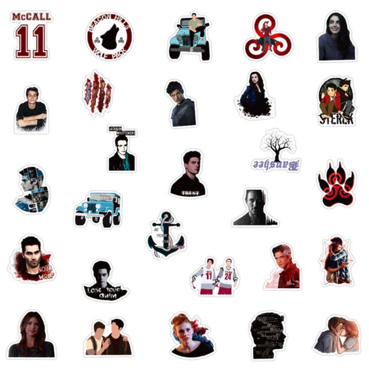 stickers teen wolf tv show